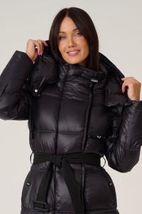 Женский модный пуховик Ice Yee с мехом енота